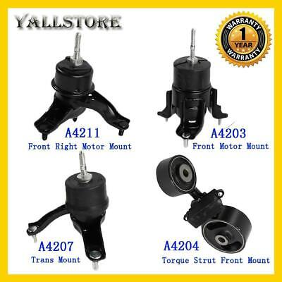 4pcs Motor Mounts Fit for 2002-2006 Camry 2004-2008 Solara 2.4L Engine w//Auto Trans Kit A4203 A4211 A4204 A4207