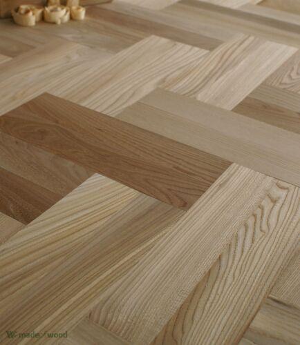 "Rare Elm Wood 12/"" Parquet Classique Select Grade Herringbone Flooring HD14"