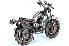 Vintage Style Handmade Art Motorcycle Model Metal Bronze Home Statue Decor Gift