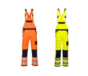 Portwest PW344 PW3 Sicherheitsgelb Bib & Brace Reflektierende Workwear Schutz