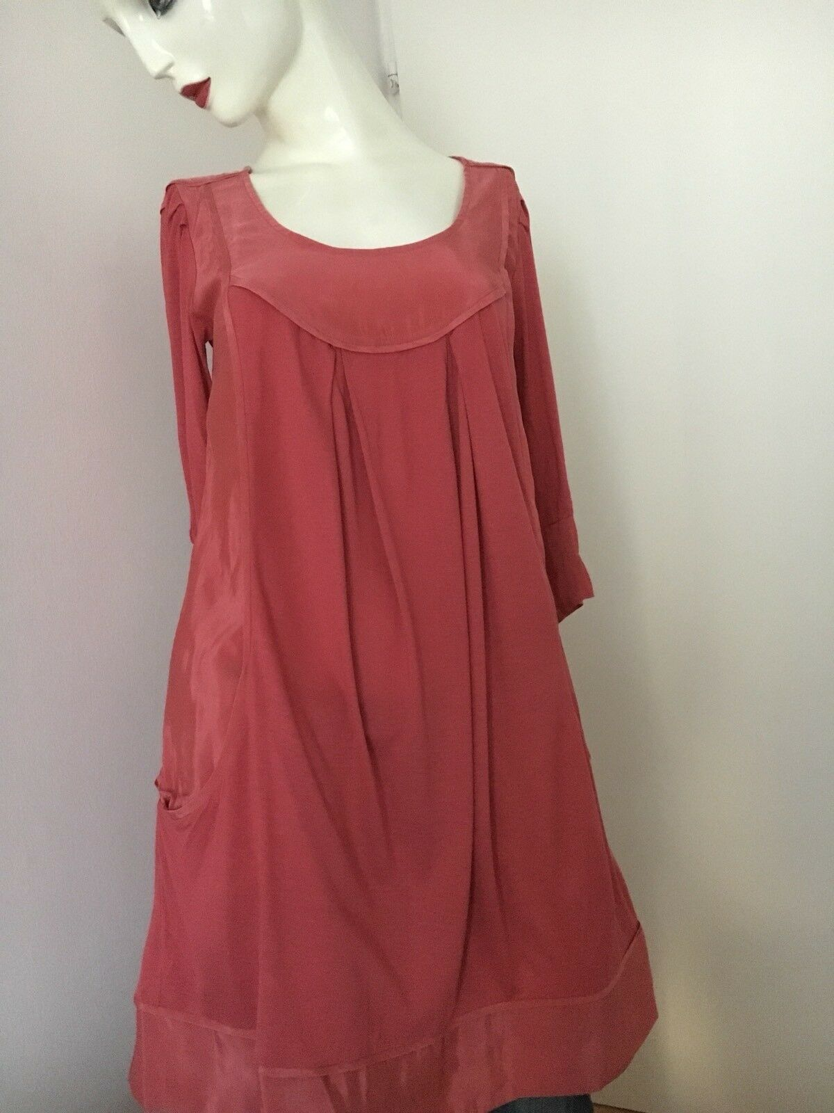 Top Shirt Kleid Tunika Kleid COMPTOIR DES COTONNIERS Gibraltar rot S 34 36