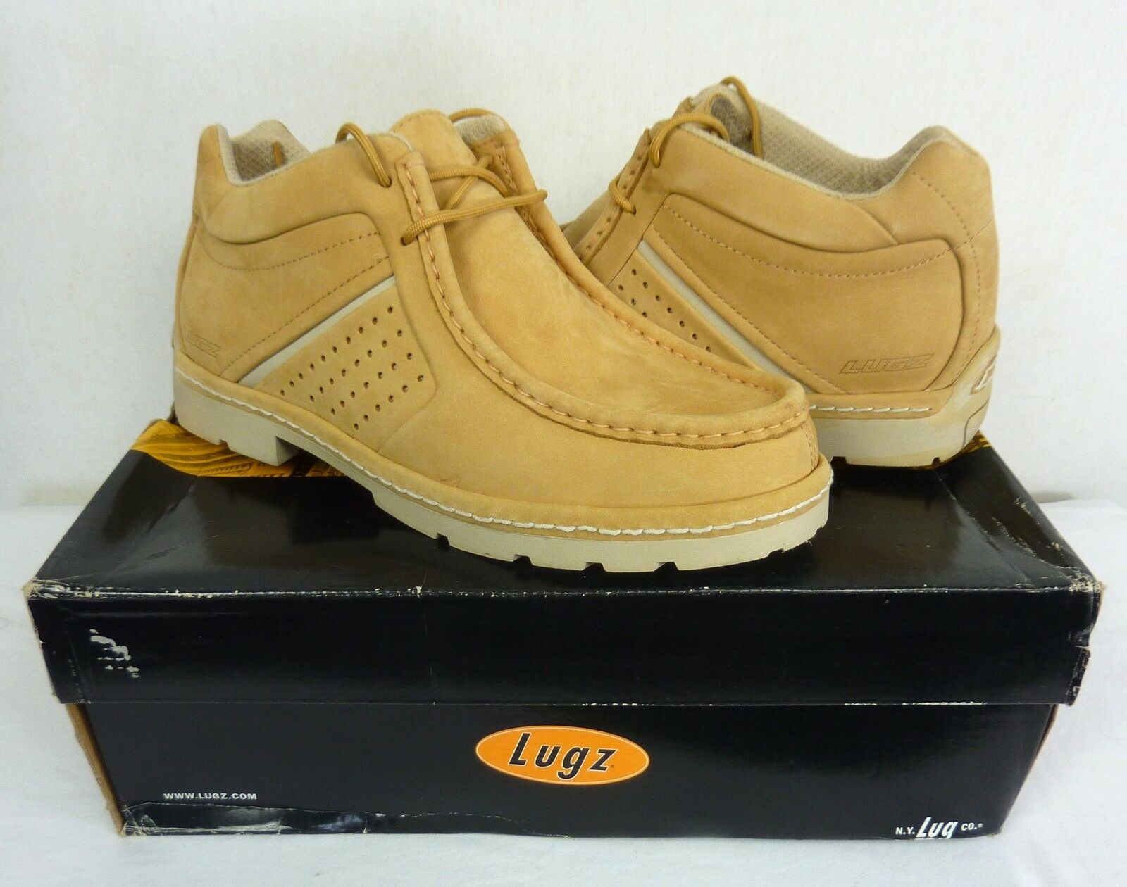 LUGZ SKILLZ MENS SHOES SNEAKERS CREAM SIZE 8.5 US