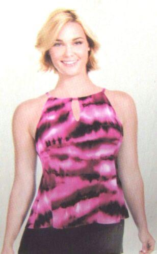 Kirkland Miraclesuit Tankini Top Pink Tie-Dye Design UK 10 Swimming Costume
