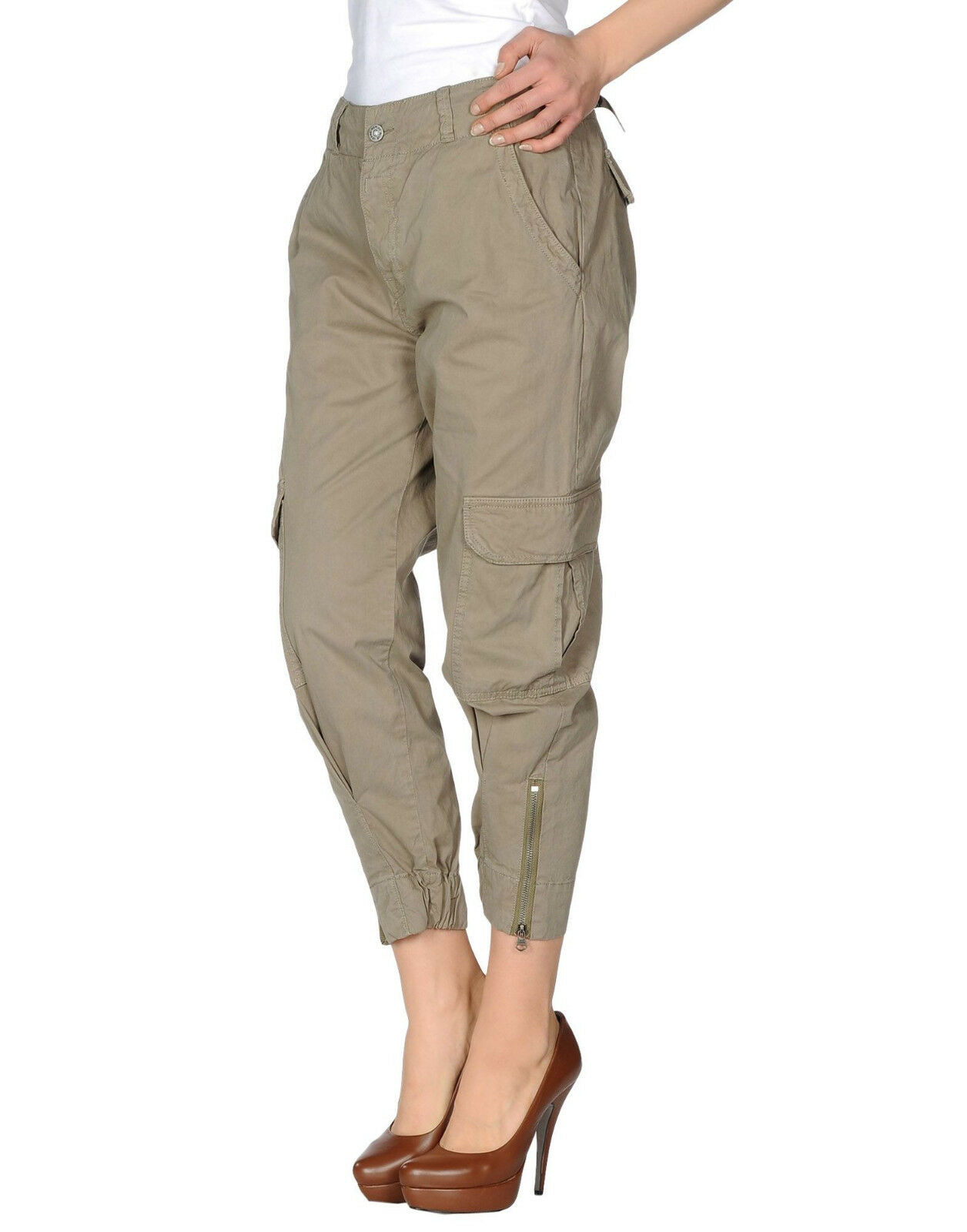 RRP  183 women's military KHAKI CARGO pants brand REPLAY Size W29 NEW TAGS