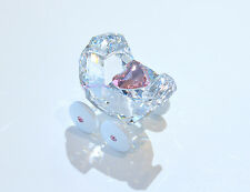 Swarovski Crystal Shower Gift Girl Baby Carriage Pink 5003407 Brand New in Box