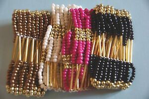 Fashion-Jewellery-Ladies-Solid-Beads-Friendship-Bracelet-Bangle-Gifts-Xmas