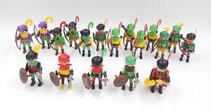 Figurines de Playmobil Infanterie Longbowmen Archers Armée soldats du château