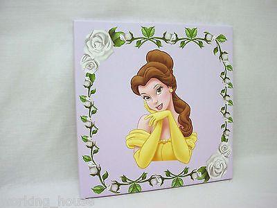 (33958) Quadri Plotter Canvas Legno Infantile Medio Principessa Disney Bella PiÙ Fabbricazione Abile