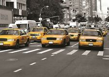 NEW YORK CITY CABS TAXIS YELLOW Photo Wallpaper Wall Mural 335x236cm