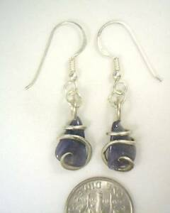 Image Is Loading 14 44ct Tumbled Tanzanite Earrings In Sterling Silver