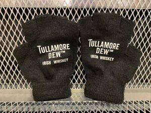 TULLAMORE DEW IRISH WHISKEY Fingerless Drinking Gloves Unisex~ NEW in Bag