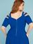 Lane-Bryant-Strappy-Shoulder-Fit-amp-Flare-Dress-Plus-22-24-26-28-True-Blue-3x-4x thumbnail 4