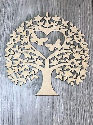 Wooden MDF DIY Tree Wedding Family Tree Craft