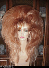 SIN CITY WIGS RED HOT BIG HAIR W/ STREAKS VOLUME BODY THICK TEASED DRAG QUEEN