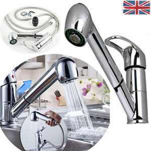 Pull out shower head chrome mixer tap faucet kitchen sink bathroom basin faucet - Shower head for kitchen sink ...