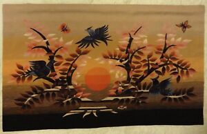 Retro 1960s Tapestry Picture Michele Ray Robert Four Aubusson Tapestries