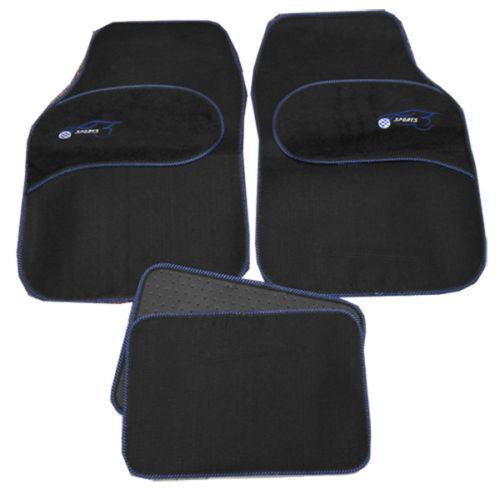 Lexus IS220 Is250 Universal BLUE Trim Black Carpet Cloth Car Mats Set of 4