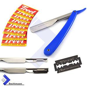 Professional-Barber-Hair-Shaving-Razor-Straight-Edge-Folding-Knife-10-Blades