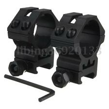 2PCs Tactical 30mm Scope Ring Picatinny Weaver Mount For Flashlight Torch Wrench
