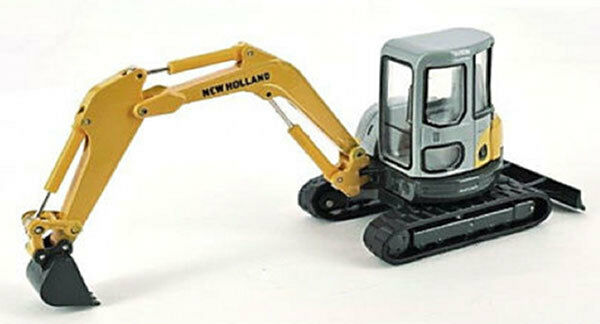 HWP 006518 New Holland E502 SR Compact Excavator High Detail O Scale 1/50 MIB