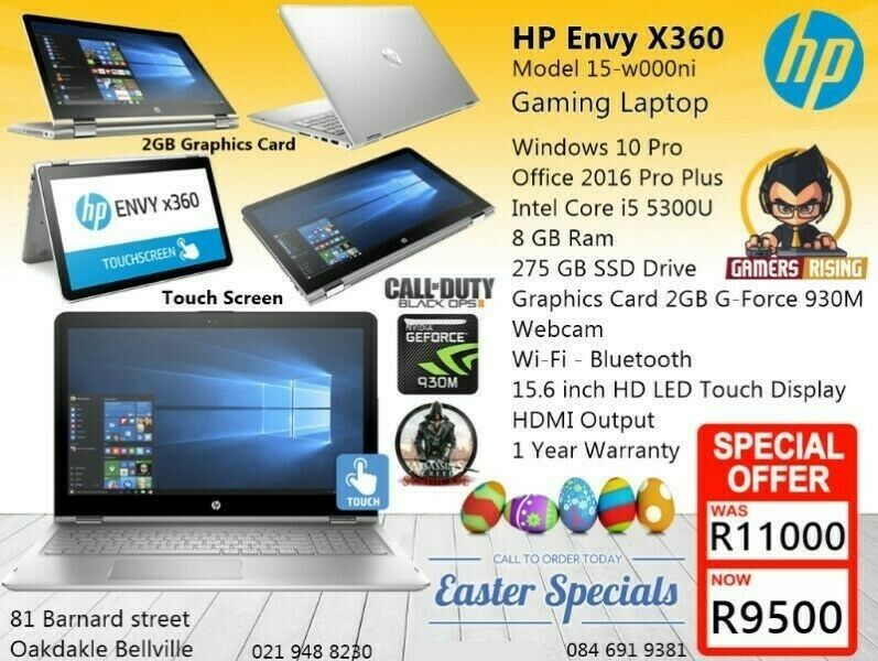 Gaming HP - ENVY x360 Laptop, 275GB SSD, 2GB Graphics Card, Core i5 - 12GB  ram  BLUETECH | Bellville | Gumtree Classifieds South Africa | 297887808