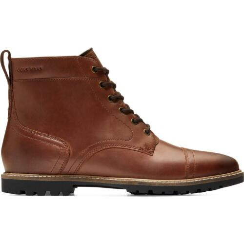 Cole Haan Mens Nathan Leather Water Resistant Cap Toe Boots Shoes BHFO 3586