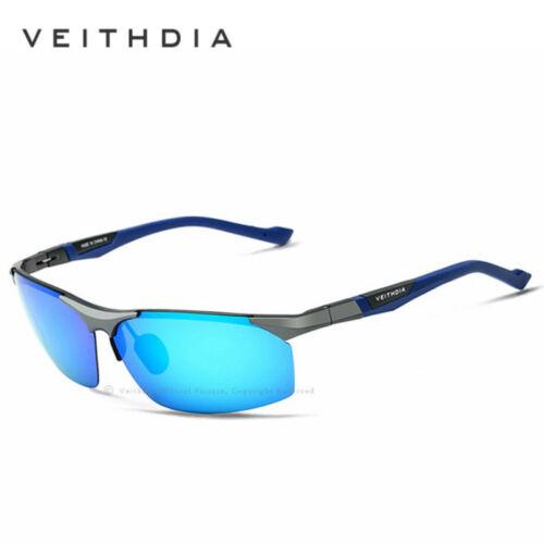VEITHDIA Aluminum Magnesium Men/'s Sunglasses Polarized Coating Mirrored Glasses