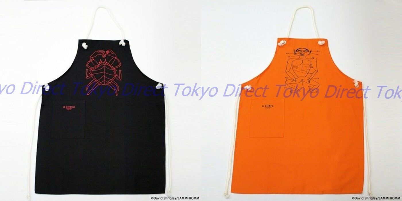 Official David Shrigley Tablier 2set (Orange Noir) F S du Japon 1