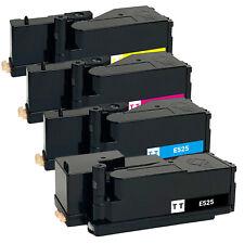 4PK E525 Color Toner fits Dell E525w 593-BBJX 593-BBJU 593-BBJV 593-BBJW H3M8P