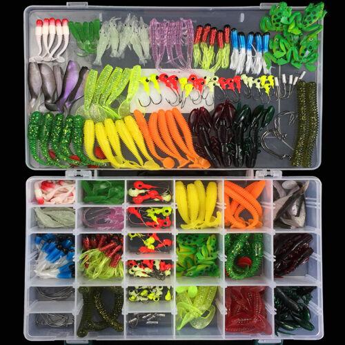 301pcs//set Simulation Fishing Tackle Kit Box Hooks Lures Baits parts Full Loaded