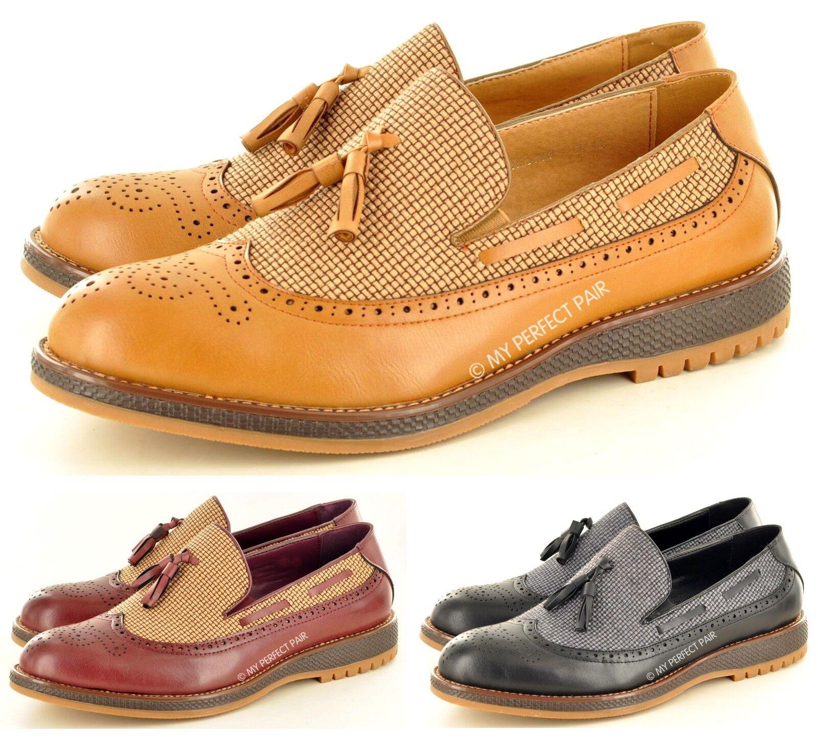 Nuevo Hombre Estilo Informal Vestido Zapatos Moderno Mocasines con Borlas Zapatos Vestido sin 1587dd