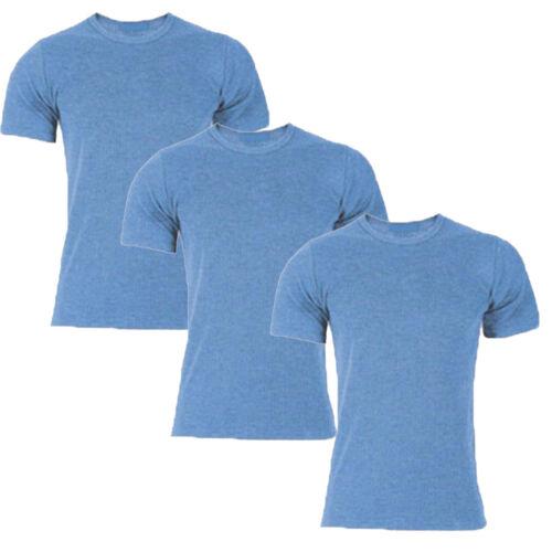 Big Sizes 3 X Men Short Sleeves Thermal Vest  Brushed Inside For Extra Warmth