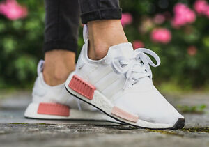 ADIDAS Originali NMD R1 Bianco cambiavalute Bianco Icey ROSA WOMEN'S BY9952 tutte le taglie