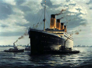 Dream-art-oil-painting-seascape-Titanic-on-ocean-canvas-36-034-hand-painted-canvas