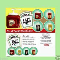 Heinz 4 Easy Pump Dispenser For 49oz - 114oz Ketchup, Mustard, Mayo, Sauce
