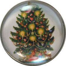 Crystal Dome Button Bat Flying near Tree w// Full Moon  AF 49 FREE US SHIPPING