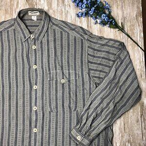 VTG-Giorgio-Armani-Collezioni-Long-Sleeve-Shirt-Mens-S-100-Rayon-ITALY