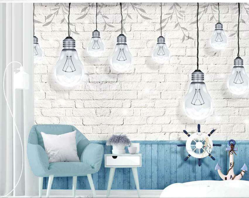 3D Weiß Light Bulb I1168 Wallpaper Mural Sefl-adhesive Removable Sticker Wendy