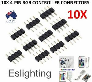 10X-4-PIN-RGB-LED-STRIP-LIGHT-CONTROLLER-CONNECTOR-CONNECTION-ADAPTER-3528-5050