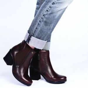 Chocolate 4 Uk Boot Ankle 7 8 Leather Chelsea 6 Womens Size Ladies Brown Galia 3 5 xn1w0vZqY