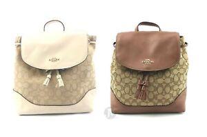 Coach-F73313-Outline-Signature-Canvas-Elle-Backpack-Bag-Bookbag