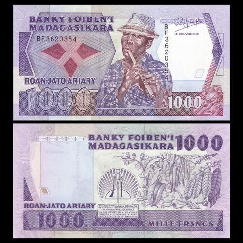 Madagascar 1000 Francs ND P-72 UNC 1988-1993