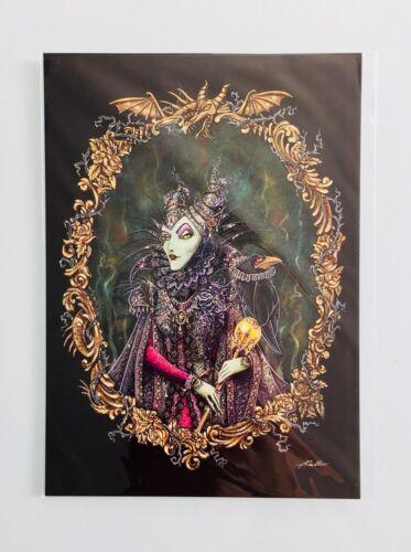 Disney Wonderground Villains Portraits Postcard Set By Artist John Coulter