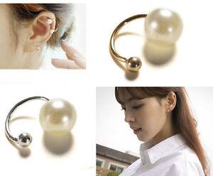 1x-oro-mujer-perla-envolver-pendiente-cartilago-clip-en-ninguna-perforacionSE