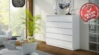 Modern Big 120cm White Chest Of 10 Drawers Straight From Factory Top Quality