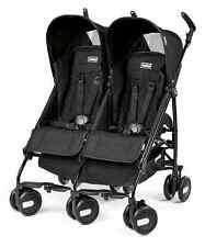 Peg Perego 2015 Pliko Mini Twin Double Stroller in Onyx Brand New!!