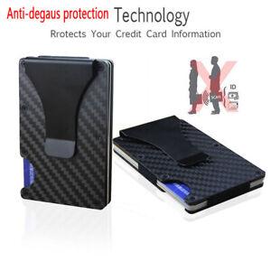 c397deb70f1 Image is loading Anti-degaus-Wallet-Carbon-Fiber-Money-Clip-Minimalist-