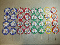 32 Caillou Cupcake Toppers - Personalized