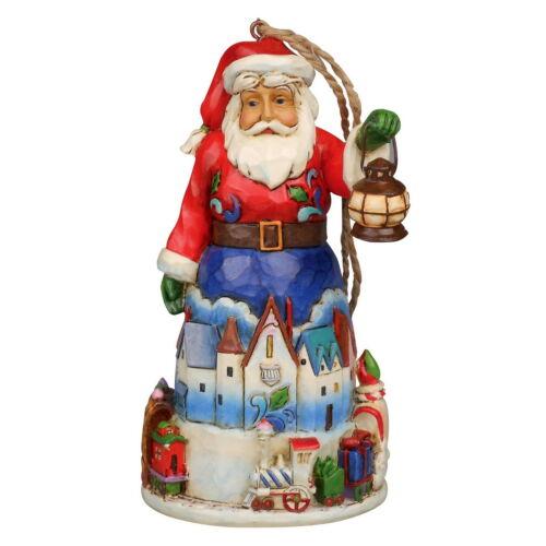"ENESCO CHRISTMAS Hanging Ornament /""Santa with Train/"" Jim Shore Figur 4042971"