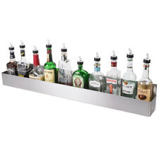 42 Silver Stainless Steel Single Tier Commercial Bar Speed Rail Rack 712b5542